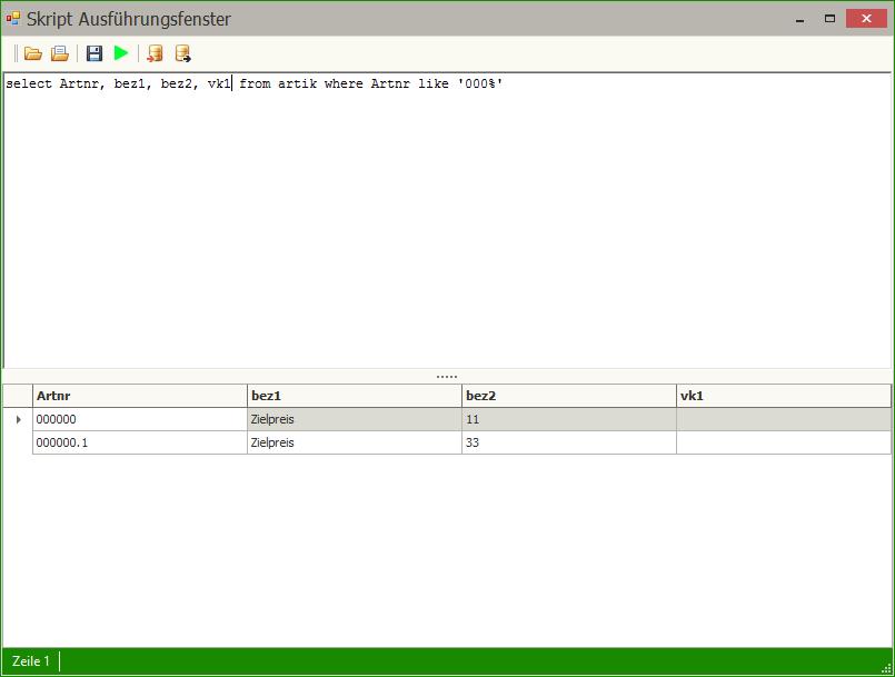 SQL_Ausführungsfenster